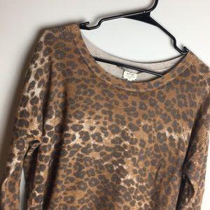 Wilfred Leopard Animal print Sweater Silk Cashmere